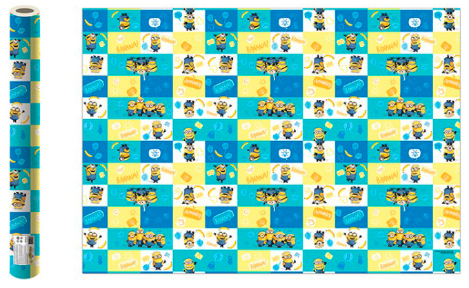 Фото - Бумага упаковочная Minions 2 (голубая с жёлтым) 700x1000 мм (2 шт.) бумага упаковочная принцесса 700 1000мм 2 шт