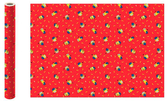 Фото - Бумага упаковочная Minions 2 (красная) 700x1000 мм (2 шт.) бумага упаковочная принцесса 700 1000мм 2 шт