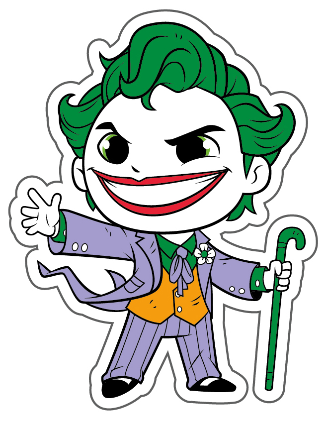 Наклейка-патч для одежды DC Super Friends: Джокер 1
