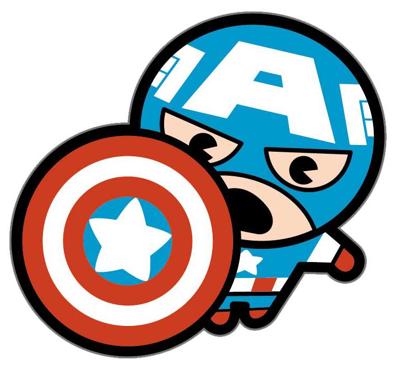 Фото - Наклейка-патч для одежды Капитан Америка Kawaii 1 наклейка патч для одежды энчантималс фелисити 1