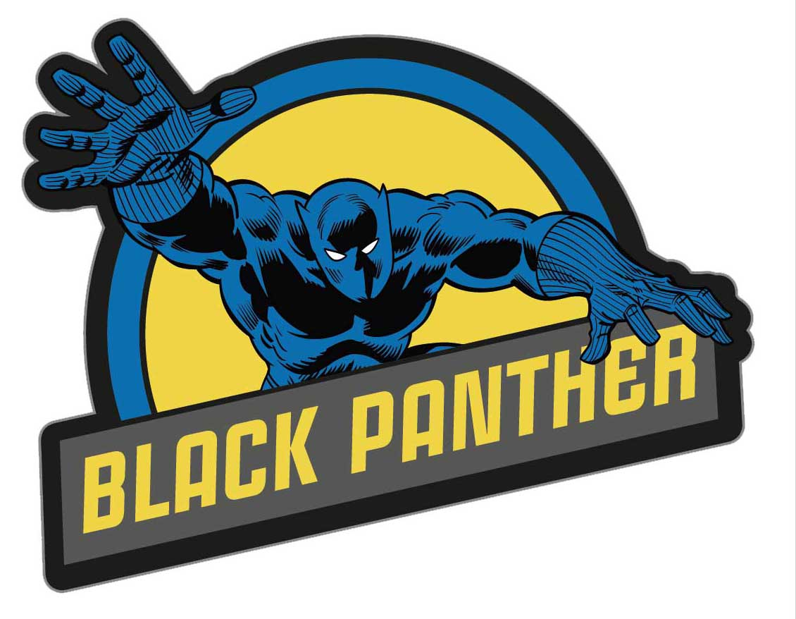 Фото - Наклейка-патч для одежды Чёрная Пантера 1 наклейка патч для одежды энчантималс фелисити 1