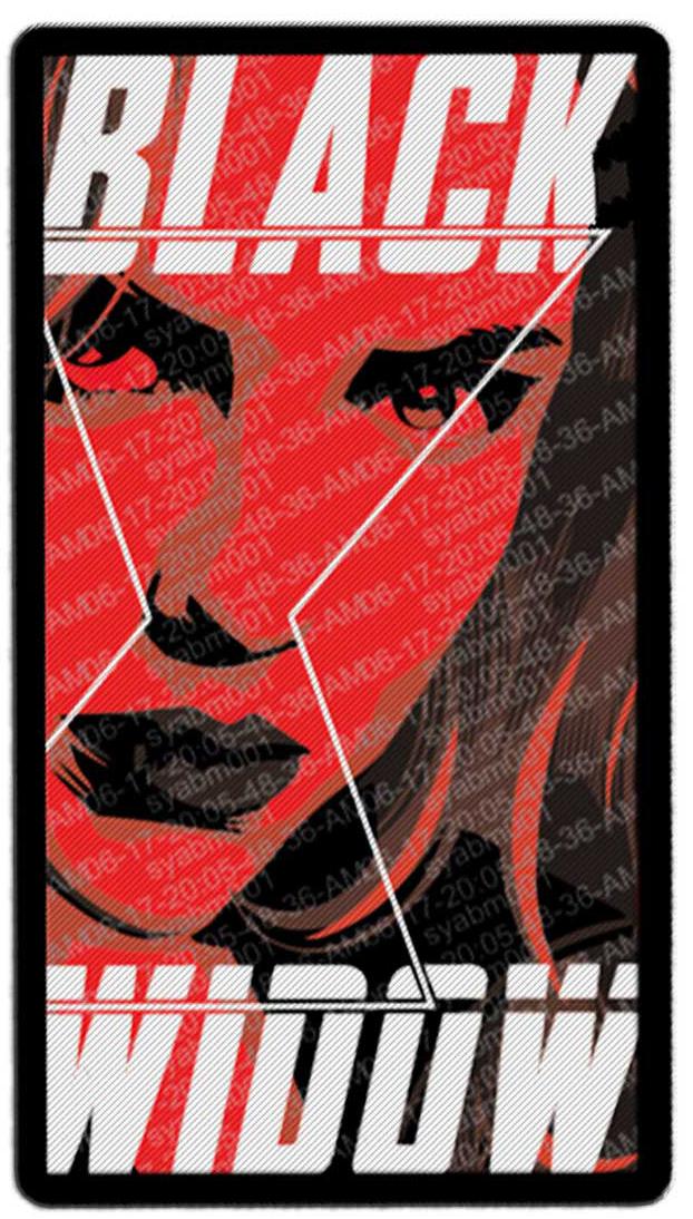 Фото - Наклейка-патч для одежды Чёрная Вдова 1 наклейка патч для одежды энчантималс фелисити 1