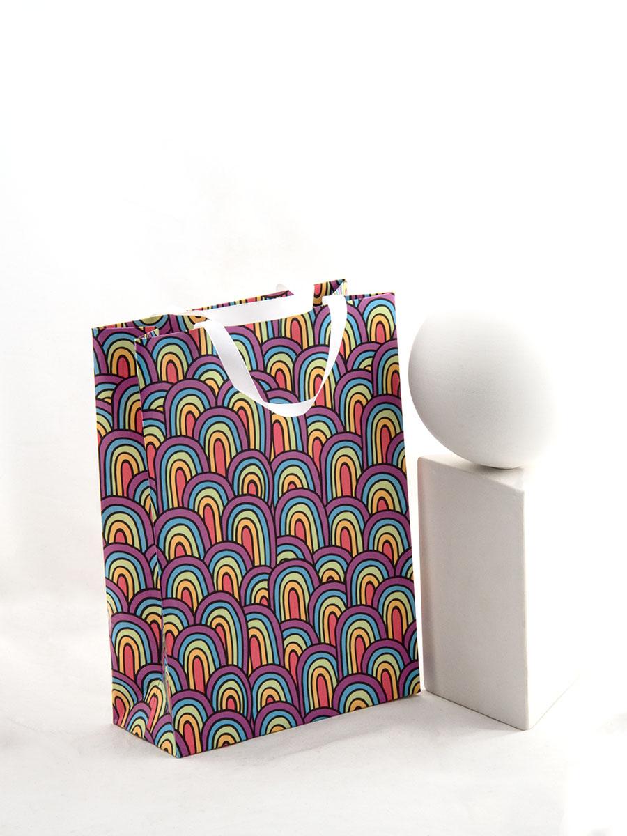 Пакет Радуга Единорога подарочный А5