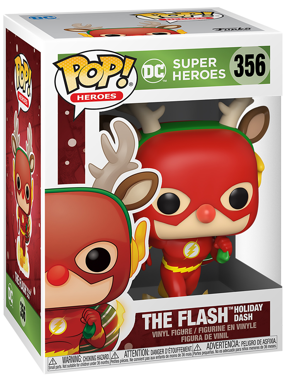 Фигурка Funko POP Holiday: DC Super Heroes – Flash (9,5 см) dc comics the flash bifold wallet dft 1875
