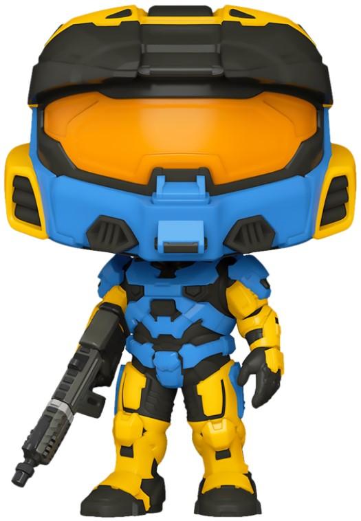 Фигурка Funko POP Halo: Spartan Mark VII with VK78 Commando Rifle Blue & Yellow (9,5 см)