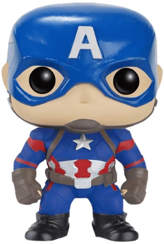 alex irvine phase three marvel s captain america civil war Фигурка Funko POP Marvel: Civil War – Captain America Bobble-Head Exclusive (9,5 см)