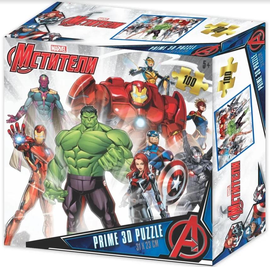 Prime 3D Puzzle: Marvel – Мстители (100 элементов) prime 3d puzzle disney – история игрушек 2 100 элементов