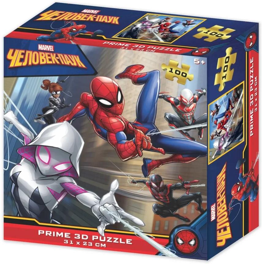 Prime 3D Puzzle: Marvel – Человек-Паук (100 элементов) prime 3d puzzle disney – история игрушек 2 100 элементов