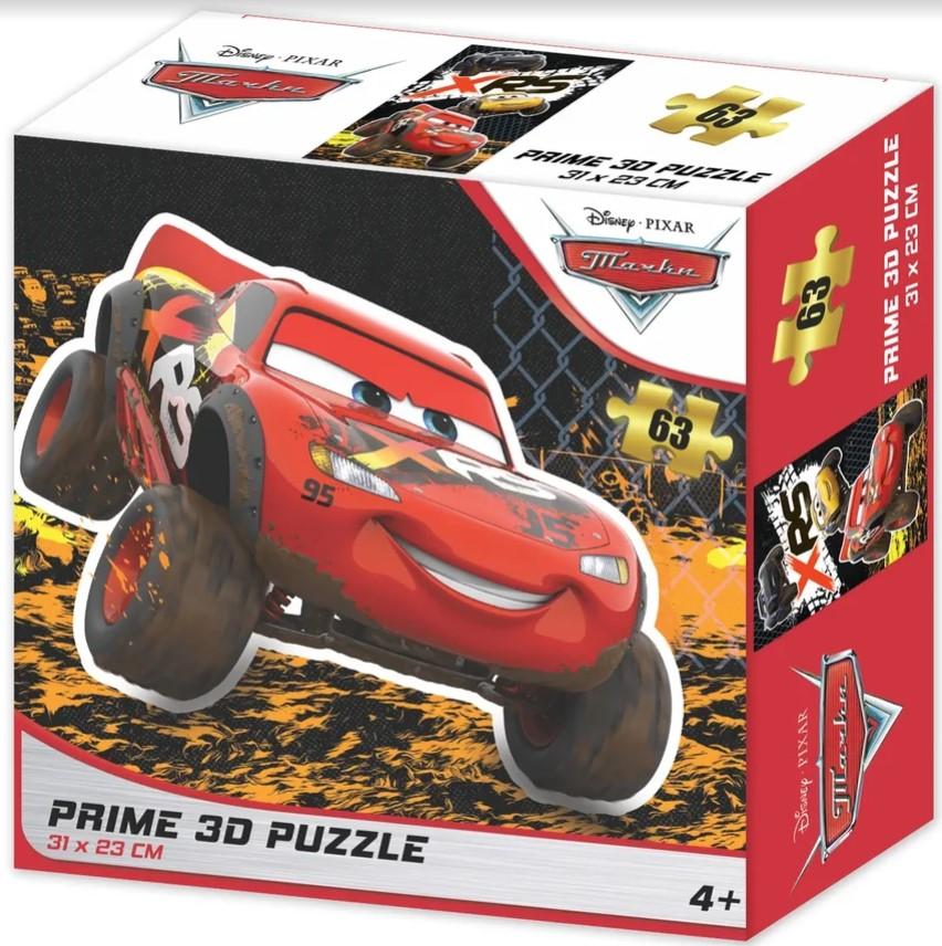 Prime 3D Puzzle: Disney – Тачки (63 элемента) prime 3d puzzle disney – история игрушек 2 100 элементов