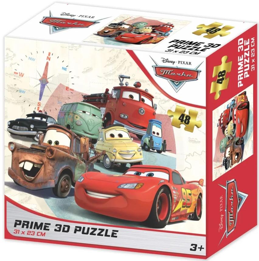 Prime 3D Puzzle: Disney – Тачки 2 (48 элементов) prime 3d puzzle disney – история игрушек 2 100 элементов