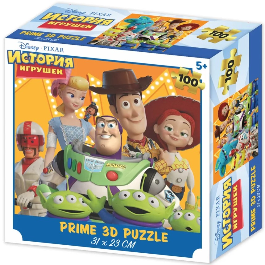 Prime 3D Puzzle: Disney – История Игрушек (100 элементов) prime 3d puzzle disney – история игрушек 2 100 элементов