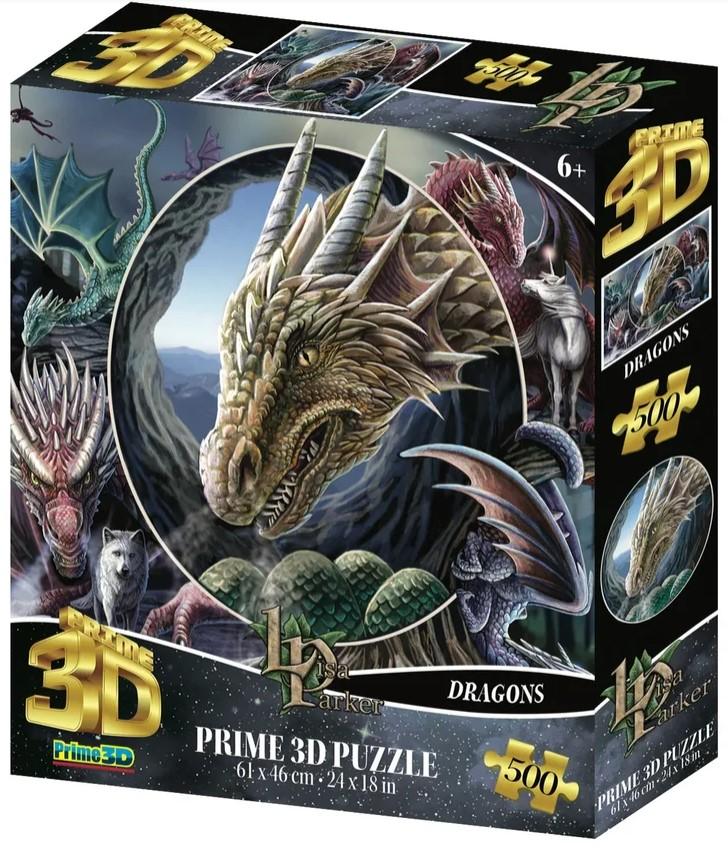 Super 3D Puzzle: Коллаж Драконы (500 элементов) prime 3d puzzle disney – история игрушек 2 100 элементов