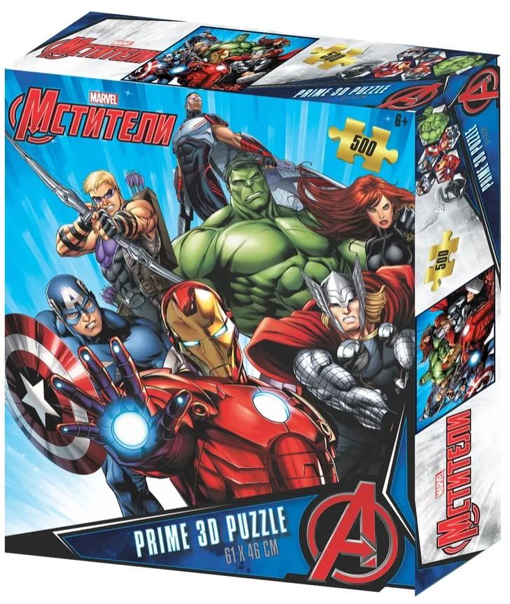 Prime 3D Puzzle: Marvel – Мстители 2 (500 элементов) prime 3d puzzle disney – история игрушек 2 100 элементов