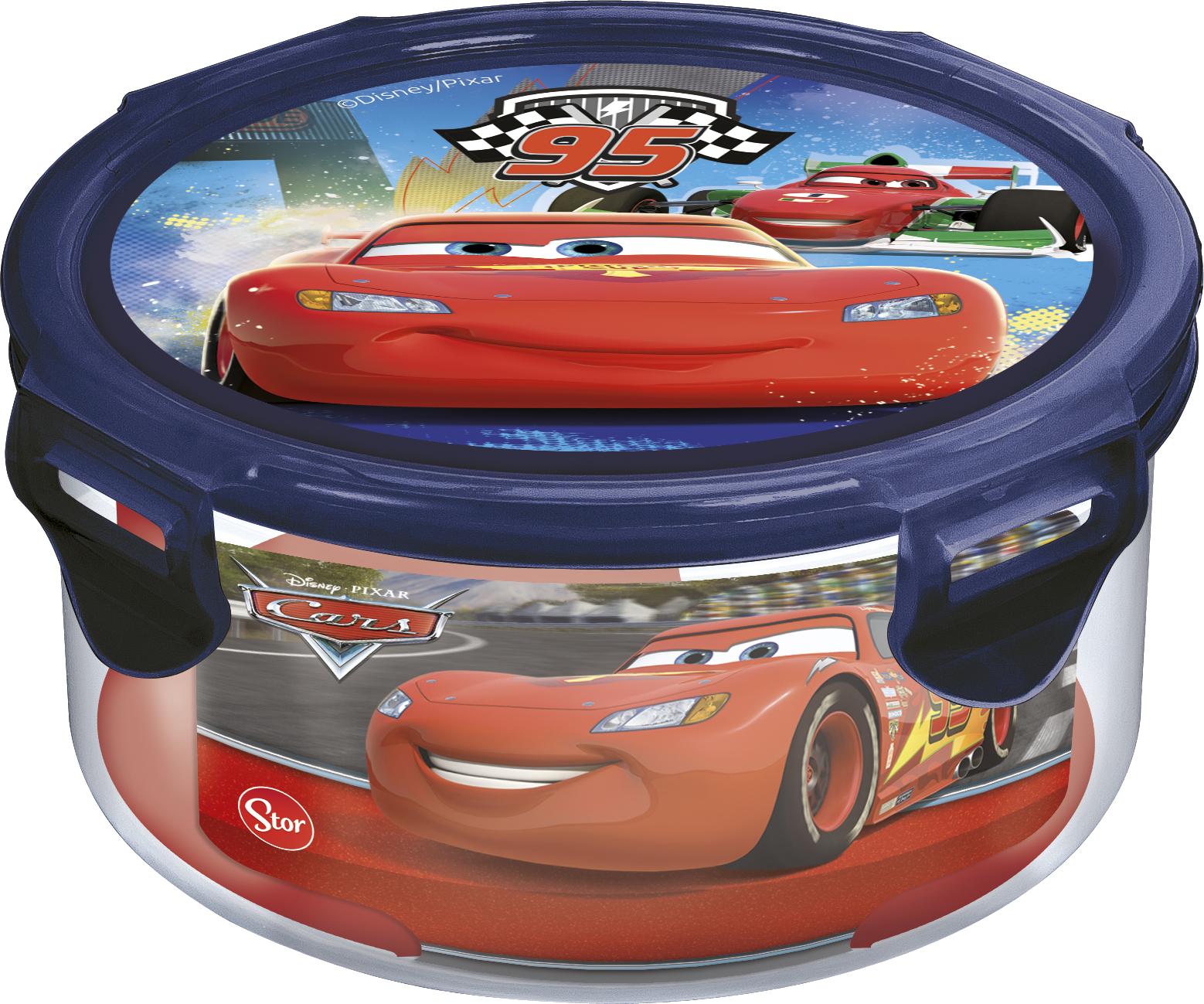 Контейнер для продуктов Тачки: Грани гонок (круглый) (550 мл.)