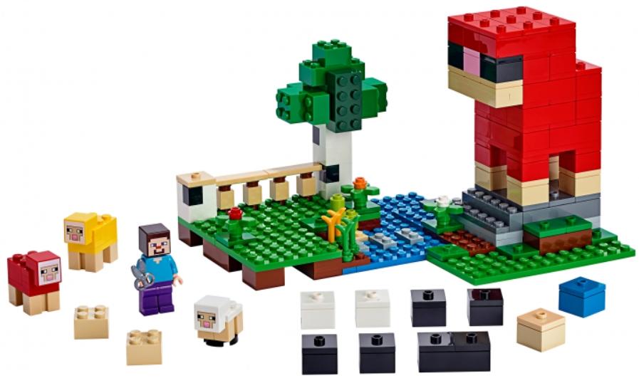 Конструктор LEGO Minecraft: Шерстяная ферма