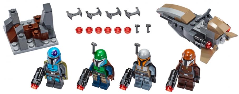 Конструктор LEGO Star Wars: Боевой набор. Мандалорцы