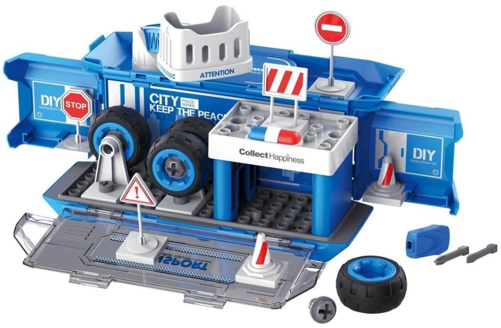 Набор пластмассовых деталей для сборки: Игровая станция (синий)