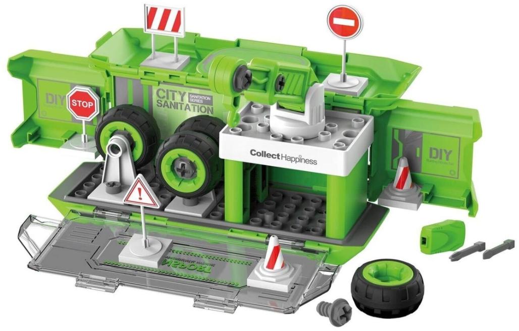 Набор пластмассовых деталей для сборки: Игровая станция (зеленый)