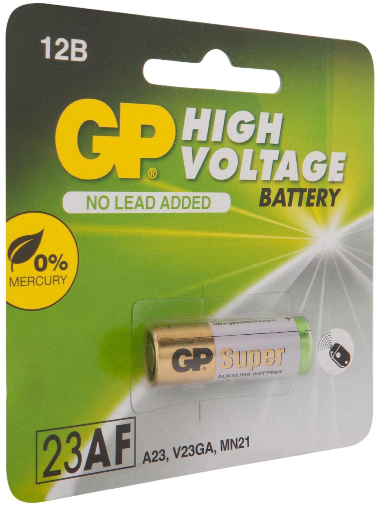 Высоковольтная батарейка 12В GP 23AF (Блистер, 1 шт)