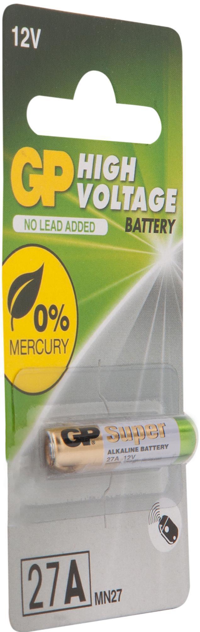 Высоковольтная батарейка 12В GP 27AF (Блистер, 1 шт) батарейка gp алкалиновые типоразмера аа 4 шт