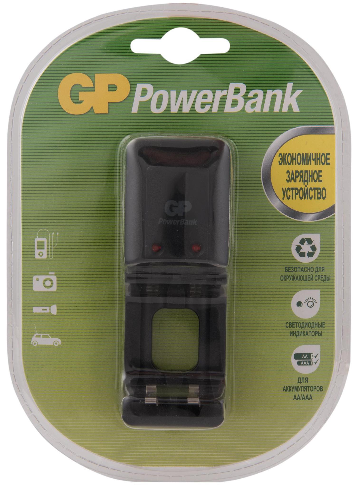 Стандартная зарядка PB330 для АА и ААА аккумуляторов в клемшеле