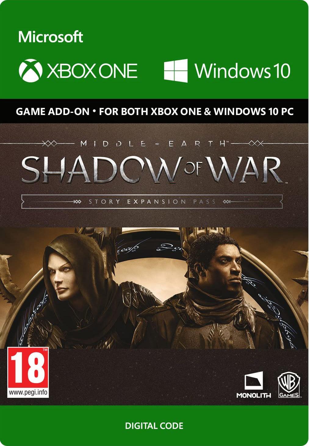 Фото - Средиземье: Тени войны (Middle-earth: Shadow of War) Story Expansion Pass. Дополнение [Xbox One/Win10, Цифровая версия] (Цифровая версия) средиземье тени войны middle earth shadow of war the blade of galadriel story expansion дополнение [xbox one win10 цифровая версия] цифровая версия