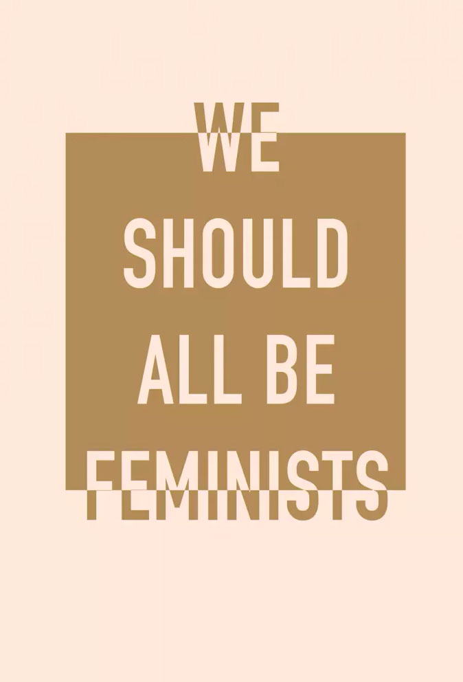 Блокнот We Should All Be Feminists printio футболка классическая we should all be feminists