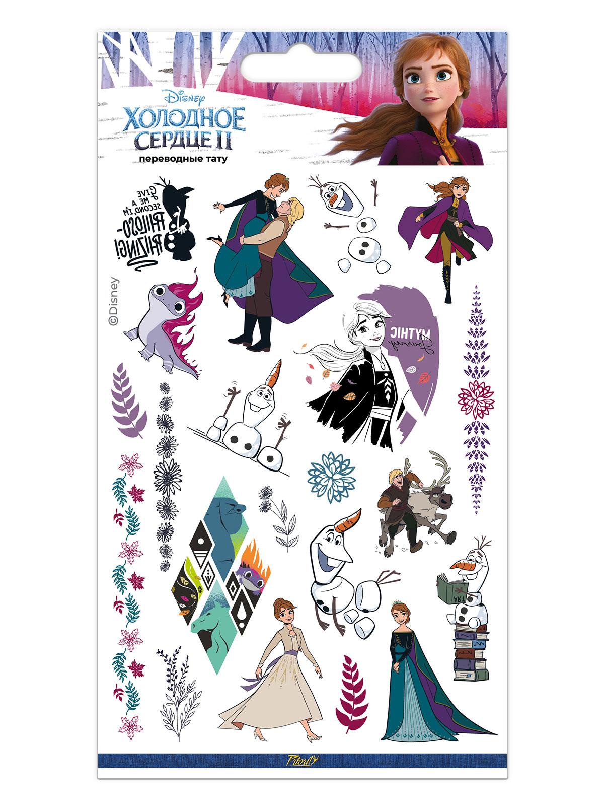 Фото - Набор татуировок переводных Дисней Холодное сердце II Анна / Disney Frozen II Anna 2 подарочный набор disney frozen ii anna house set