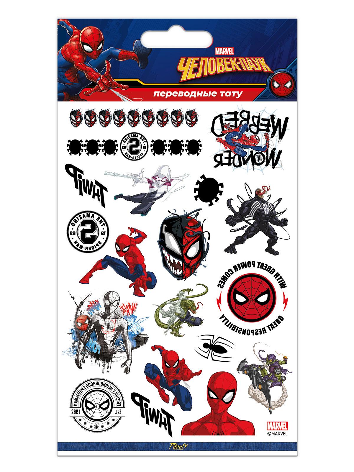 Набор татуировок переводных Марвел Человек-Паук / Marvel Spider-Man 3