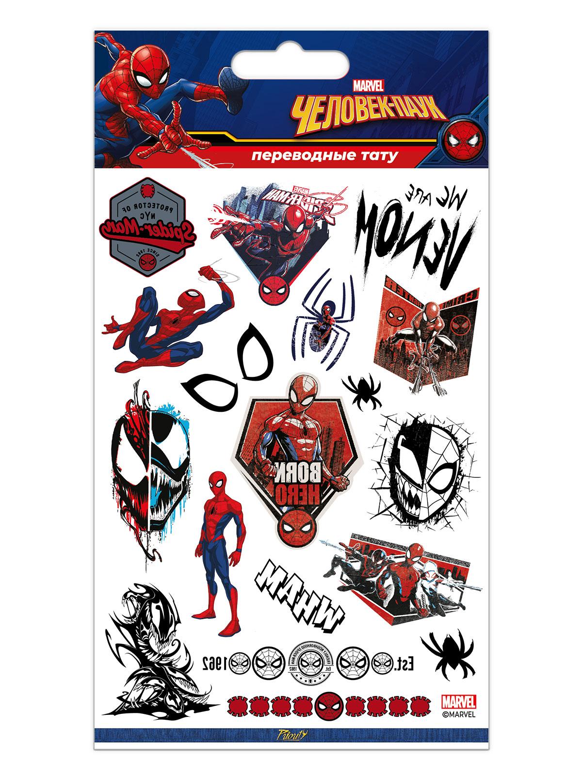 Набор татуировок переводных Марвел Человек-Паук / Marvel Spider-Man 4