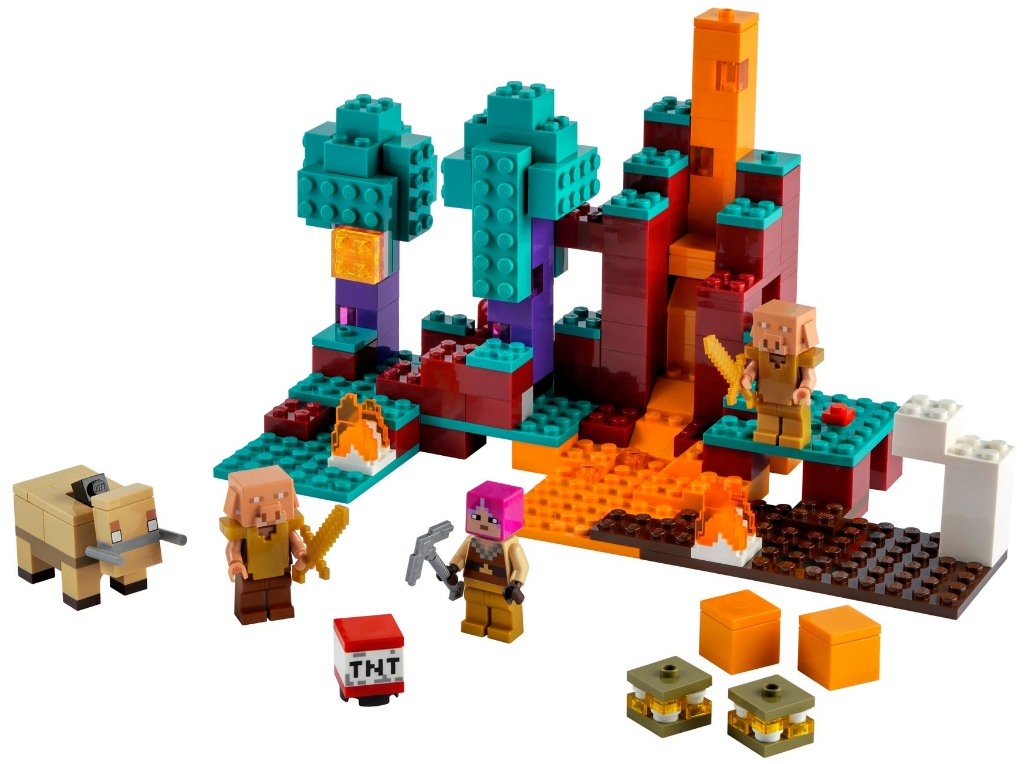 Конструктор LEGO Minecraft: Искажённый лес