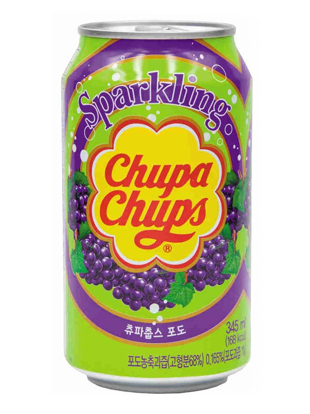 Напиток газированный Chupa Chups: Вкус винограда (345мл)