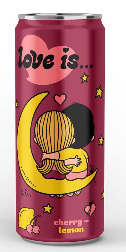 Напиток газированный Love Is: Вкус вишня-лимон (330мл)