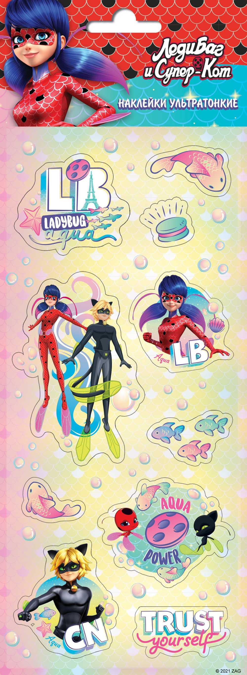 Набор наклеек Леди Баг и Супер-Кот Дизайн 3 Плёночные логунова е леди баг и супер кот раскраска с развивающими заданиями 16 цветных наклеек