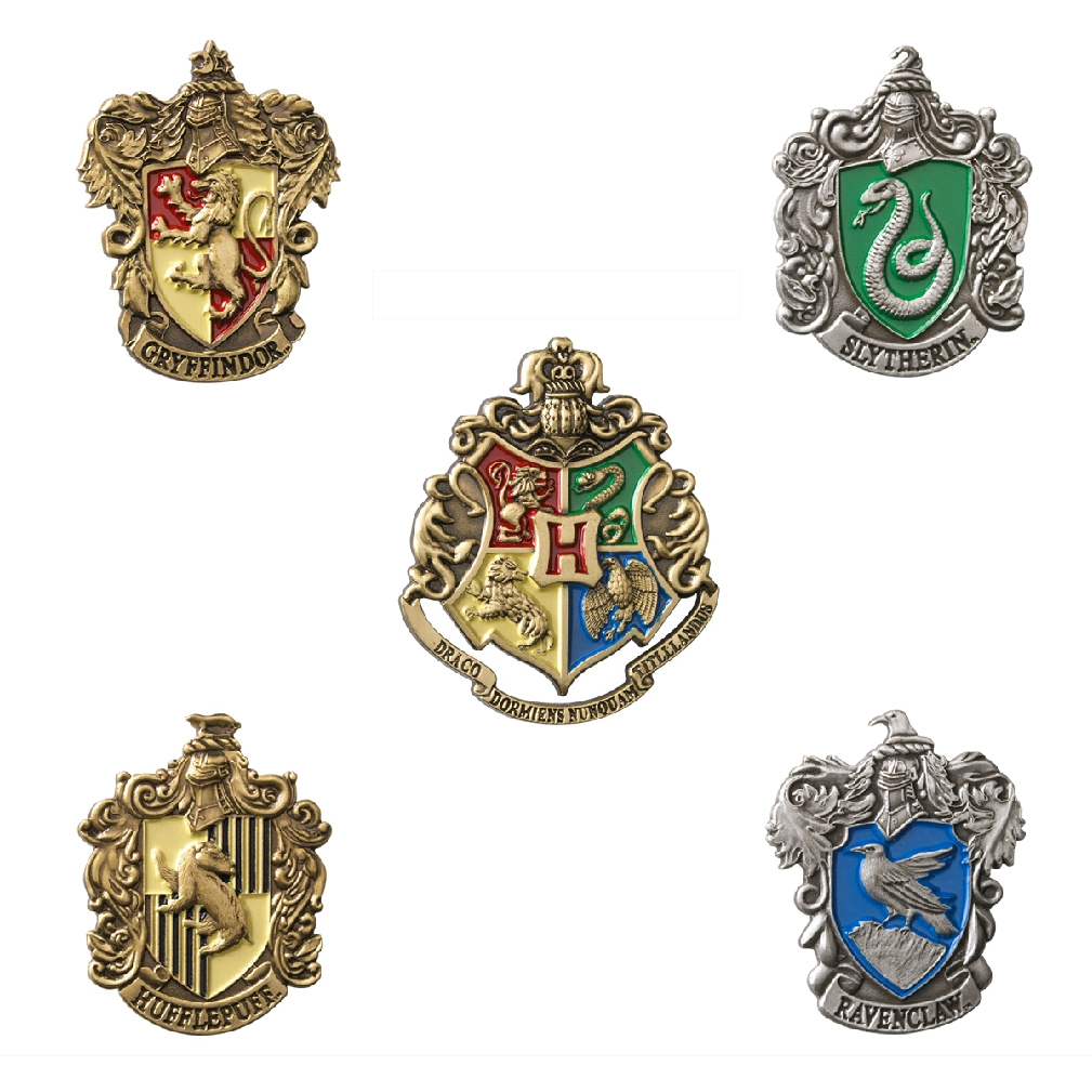 Набор значков Harry Potter: Гербы (5-Pack)