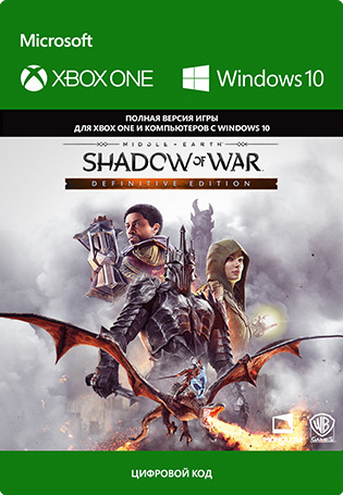 Фото - Средиземье: Тени войны (Middle-earth: Shadow of War) Definitive Edition [Xbox One / Windows 10, Цифровая версия] (Цифровая версия) средиземье тени войны middle earth shadow of war the blade of galadriel story expansion дополнение [xbox one win10 цифровая версия] цифровая версия