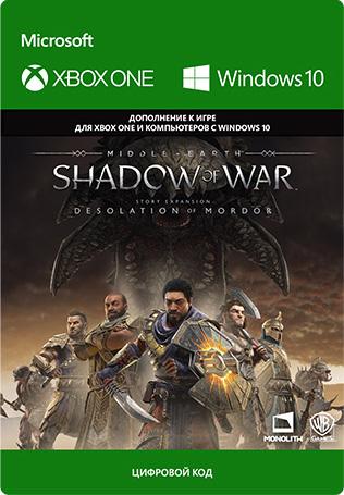 Фото - Средиземье: Тени войны (Middle-earth: Shadow of War) Desolation of Mordor. Дополнение [Xbox One / Windows 10, Цифровая версия] (Цифровая версия) средиземье тени войны middle earth shadow of war the blade of galadriel story expansion дополнение [xbox one win10 цифровая версия] цифровая версия