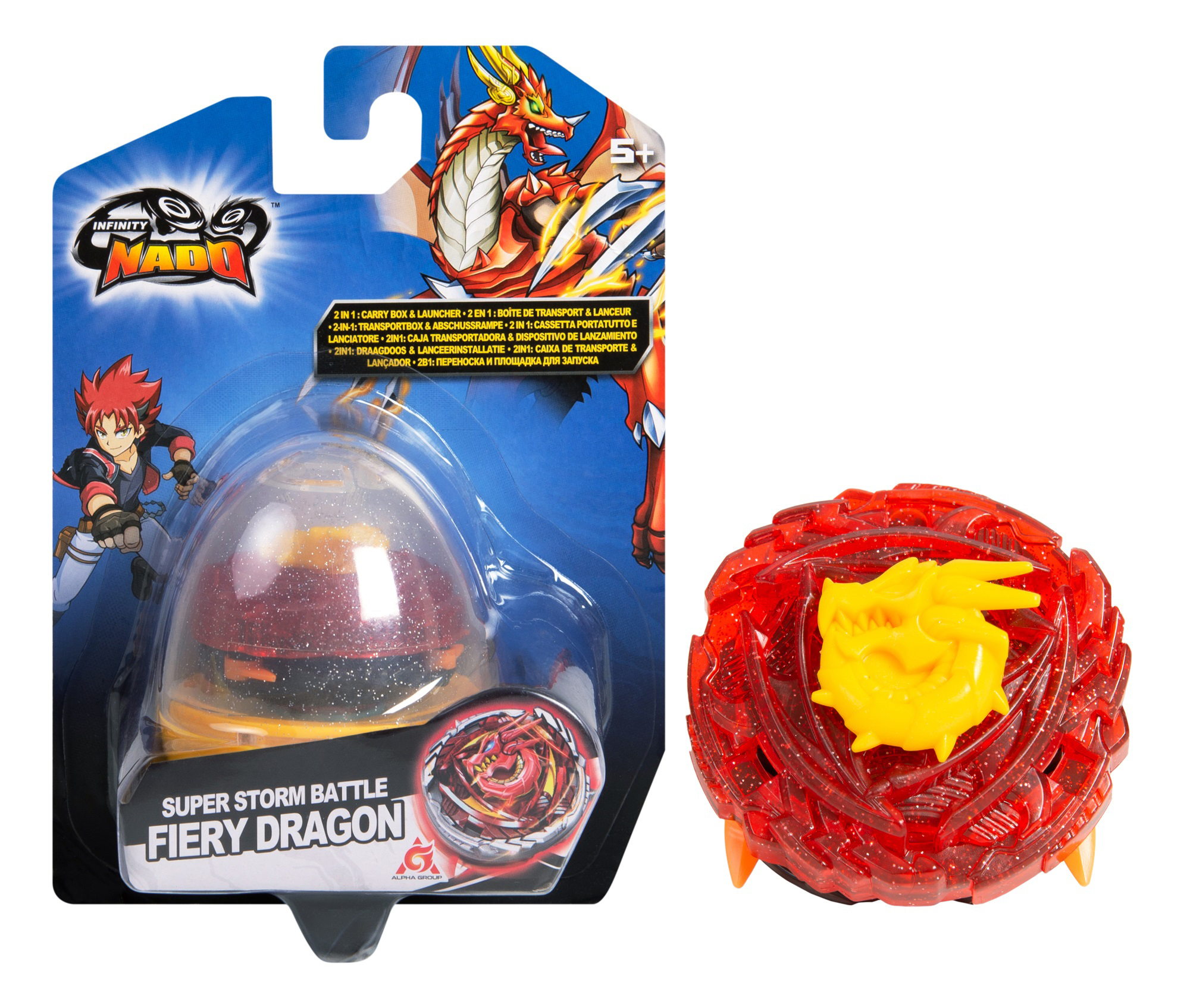 Игровой набор Infinity Nado: Волчок Компакт – Fiery Dragon игровой набор alpha toys infinity nado компакт fiery dragon 37694
