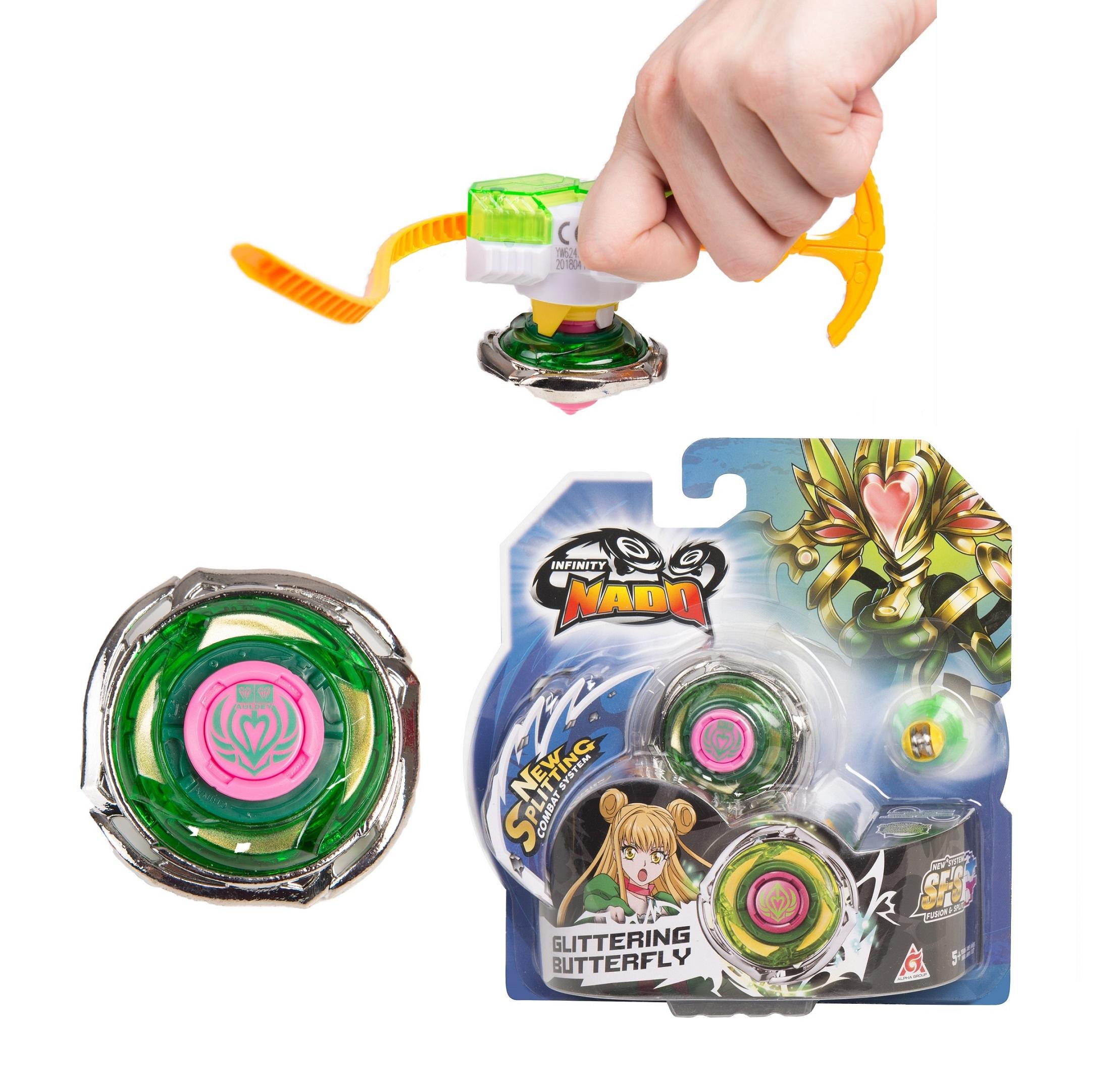 Игровой набор Infinity Nado: Волчок Стандарт – Glittering Butterfly инфинити надо infinity nado большой набор для блейд трюков 36844