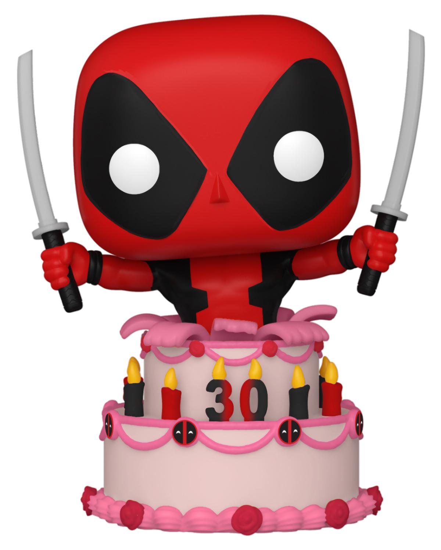 фигурка funko pop deadpool 30th deadpool in cake Фигурка Funko POP Marvel: Deadpool 30th – Deadpool In Cake Bobble-Head (9,5 см)