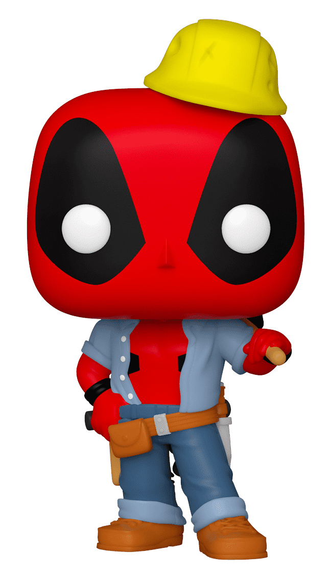 фигурка funko pop marvel deadpool 30th – construction worker deadpool bobble head 9 5 см Фигурка Funko POP Marvel: Deadpool 30th – Construction Worker Deadpool Bobble-Head (9,5 см)