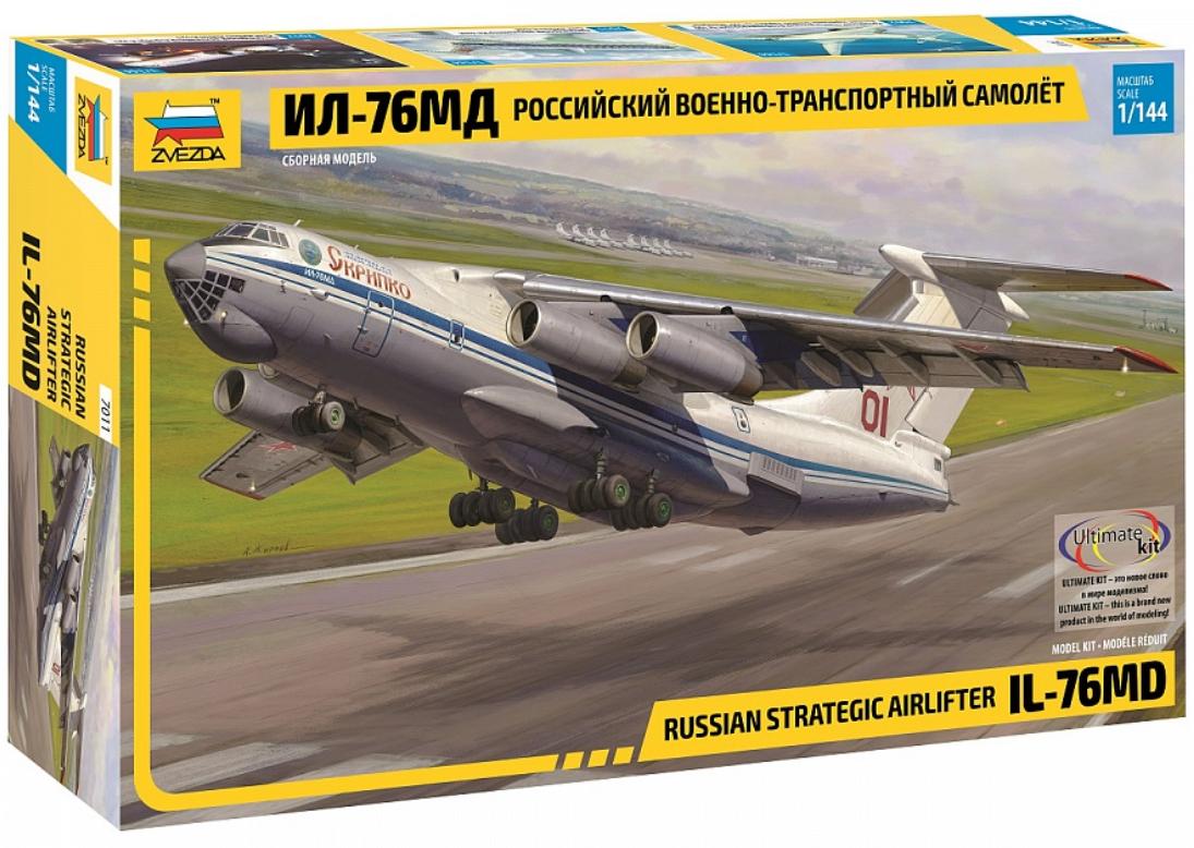 Сборная модель Военно-транспортный самолёт Ил-76МД