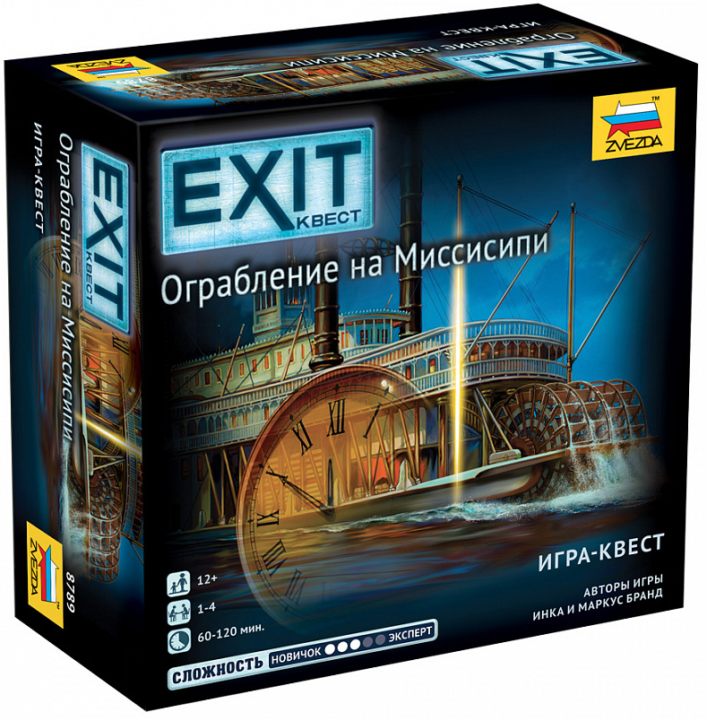 Настольная игра Exit Квест: Ограбление на Миссисипи