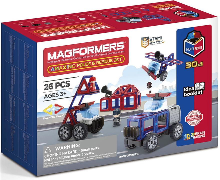 Конструктор магнитный Magformers: Amazing Police & Rescue Set
