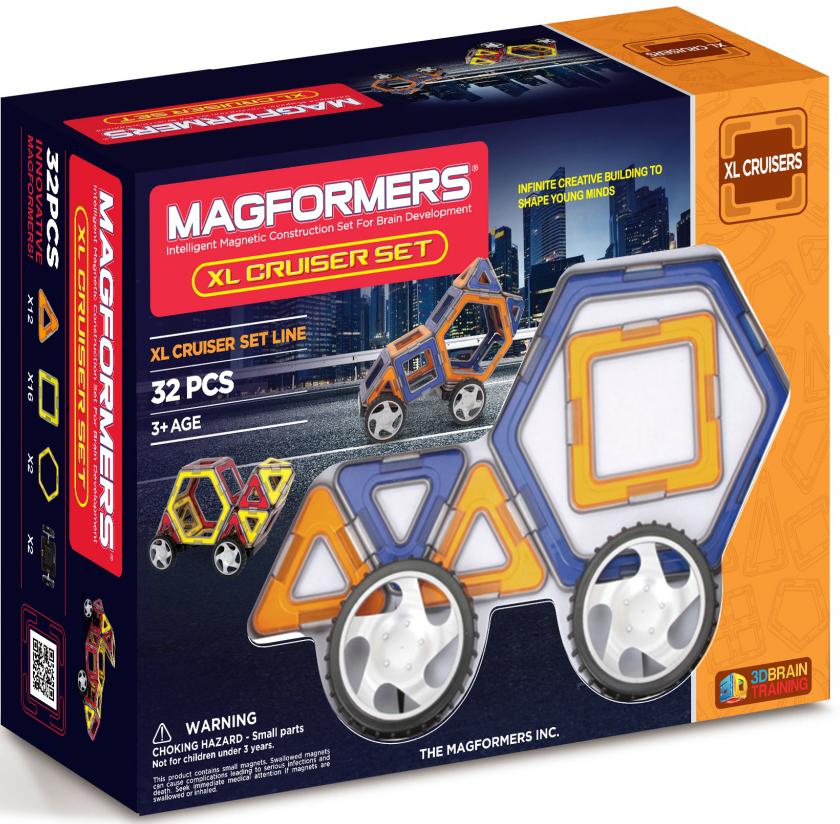 Фото - Конструктор магнитный Magformers: XL Cruisers Set конструктор magformers my first 63144 желтый багги