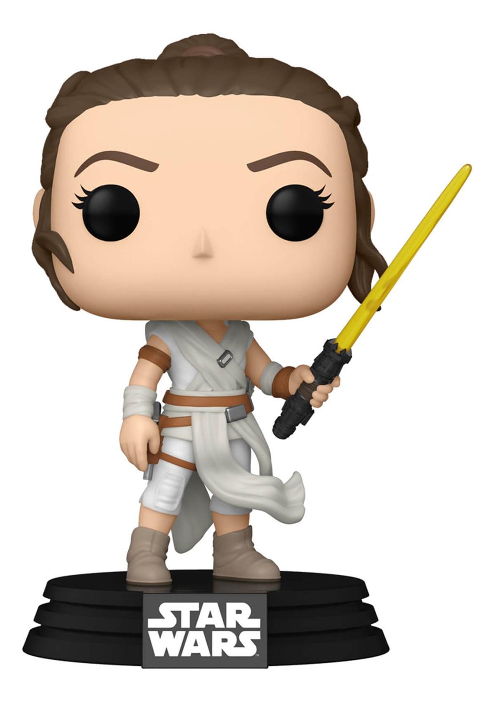 Фото - Фигурка Funko POP: Star Wars E9 Rise of Skywalker – Rey With Yellow Saber Bobble-Head (9,5 см) фигурка funko pop star wars rise of skywalker – jannah bobble head 9 5 см