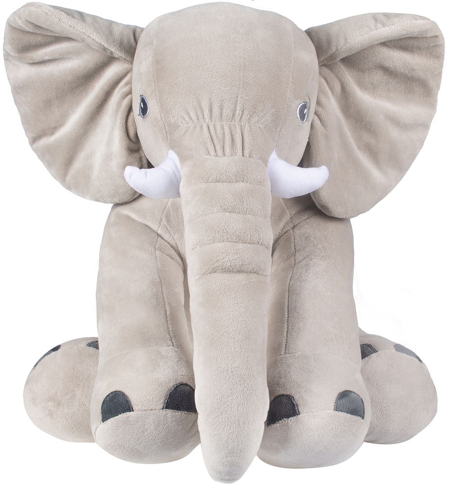 Мягкая игрушка Слон Элвис (серый)