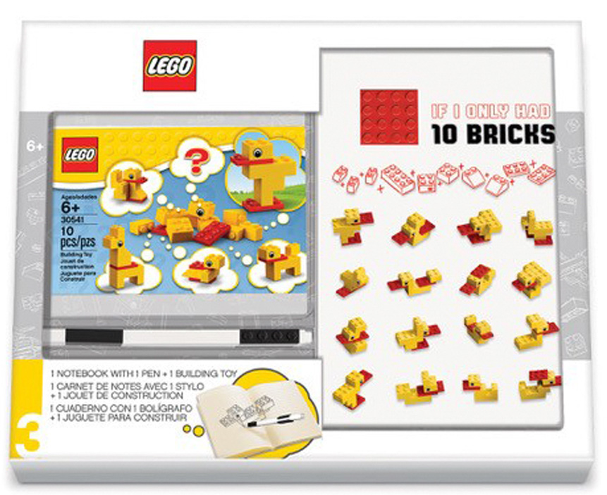 Канцелярский набор LEGO с конструктором LEGO: Classic – Duck Build