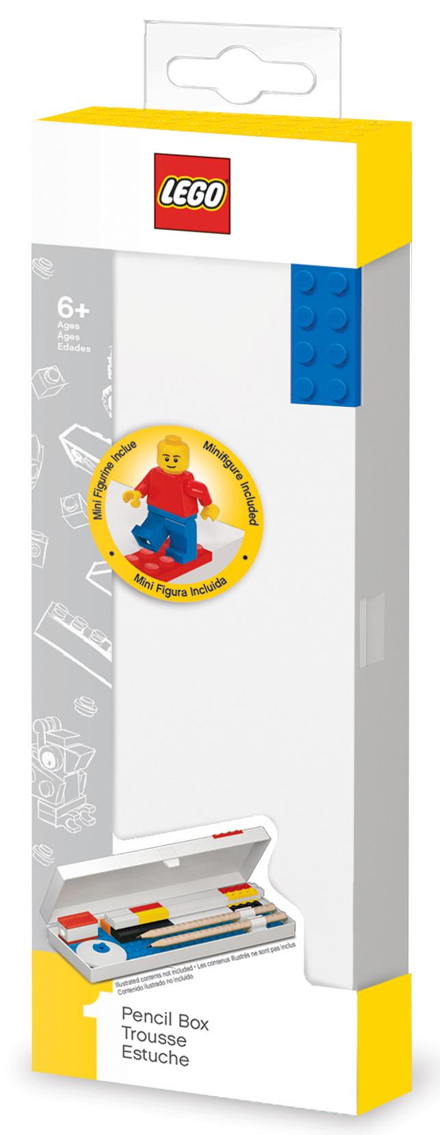 Пенал LEGO (синий кубик) + минифигурка LEGO: Classic