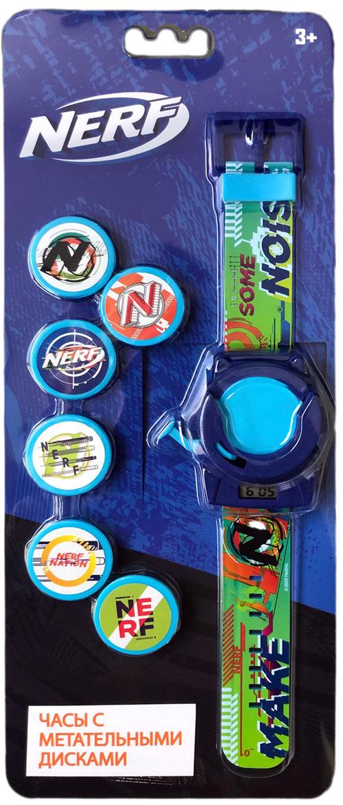 Часы наручные NERF (электронные) (метатель дисков+6 дисков)